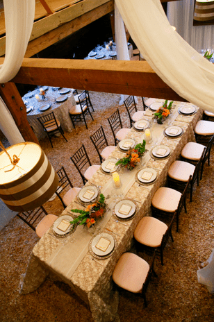 Rustic Elegance With The Button Rose Linen