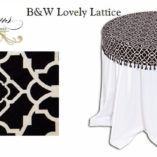 02 Black and White Lovely Lattice