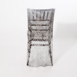 black and silver art deco sequin chair backs