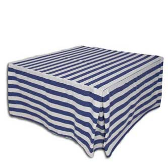 19 Cobalt Blue Stripe Square