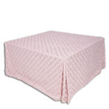 Pink Criss Cross Square I Do Linens
