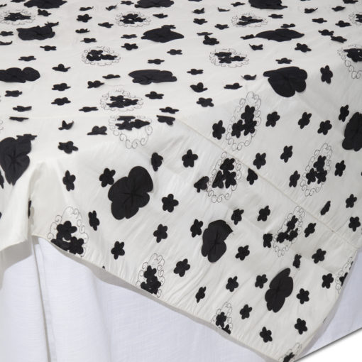 Black Lilly Pad Overlay I Do Linens1