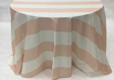 Peach Broadway Stripe_I Do Linens