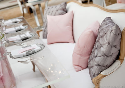 I Do Linens Silver Button Rose Pillows
