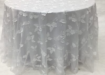 White Kelly Organza Flower I_Do_Linens_Image