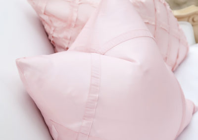 I Do Linens pink criss cross pink edmonton pillows