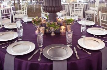 Plum, Purple & Lavender I Do Linens 4